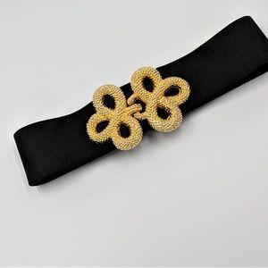 Vintage Adjustable Belt with Gold Buckle